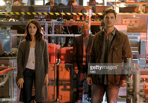 TIMELESS 'Pilot' Pictured Abigail Spencer as Lucy Preston Paterson Joseph as Connor Mason Matt Lanter as Wyatt Logan