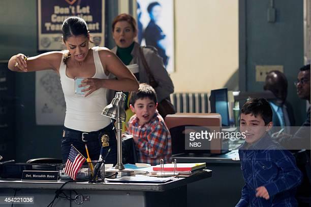 LAURA Pilot Pictured Janina Gavankar as Meredith Rose Debra Messing as Laura Diamond Charlie Reina as Nicholas Diamond Vincent Reina as Harrison...