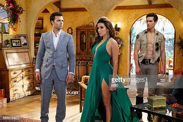 TELENOVELA 'Pilot' Pictured Jencarlos Canela as Camilo Amante de la Rosa Eva Longoria as Pasion Bustamante Jose Moreno Brooks as Cesar Rojo Roberto...