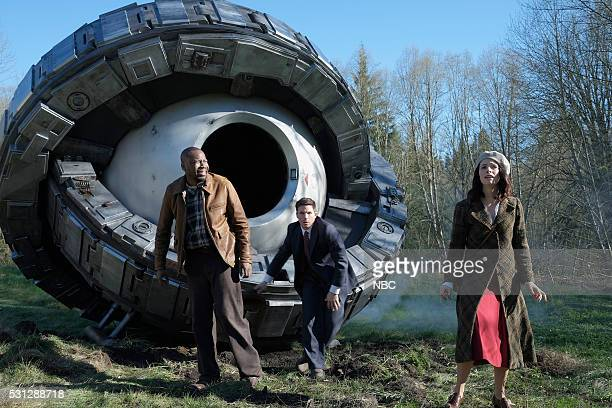 TIMELESS 'Pilot' Pictured Malcolm Barrett as Rufus Carlin Matt Lanter as Wyatt Logan Abigail Spencer as Lucy Preston