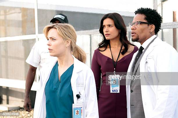 HEARTBEAT Pilot Pictured Melissa George as Dr Alex Panttiere Shelley Conn as Millicent Silvano DL Hughley as Hackett