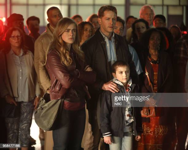 MANIFEST Pilot Pictured Melissa Roxburgh as Michaela Stone Josh Dallas as Ben Stone Jack Messina as Cal Stone