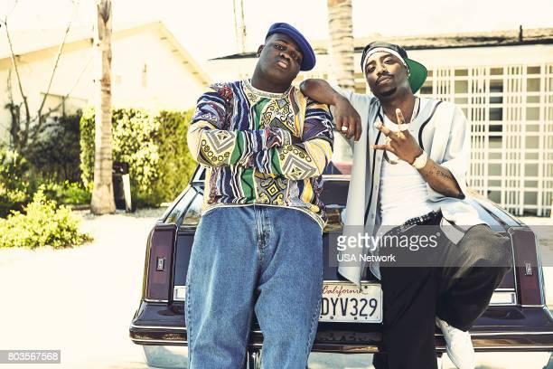 UNSOLVED 'Pilot' Pictured Wavyy Jonez as Christopher 'Biggie' Wallace Marcc Rose as Tupac Shakur