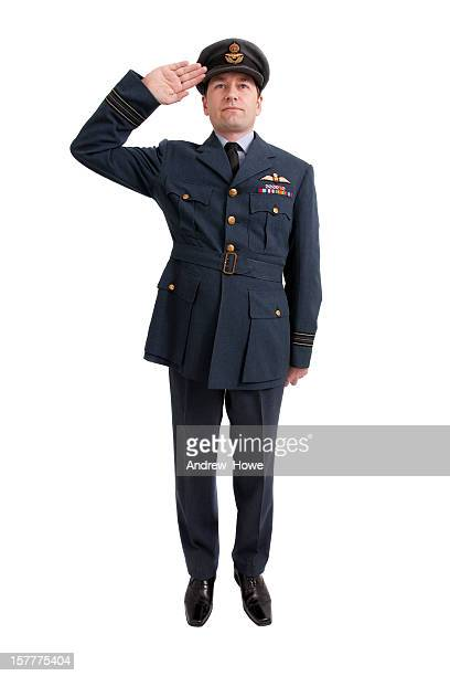 pilot salute - saluting stock pictures, royalty-free photos & images