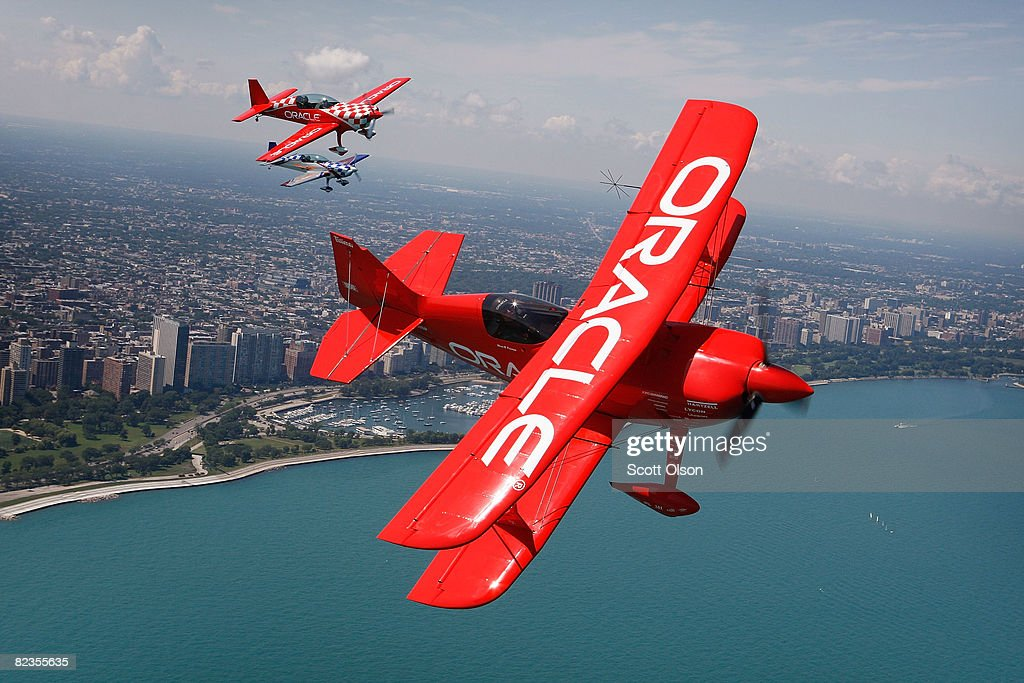 The Collaborators Fly During A Media Day Of The Chicago Air Show : News Photo