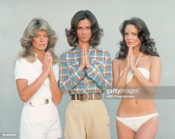 S ANGELS Pilot Season One 9/22/76 Pictured from left Farrah FawcettMajors Kate Jackson and Jaclyn Smith played undercover detectives Jill Munroe...