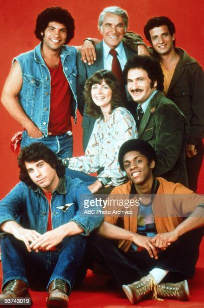 BACK KOTTER pilot Season One 9/9/75 Gabe Kotter a former Sweathog returned to his Brooklyn high school to teach the new class of misfits top row left...