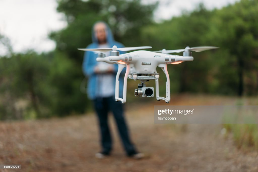 Pilot Ssing Drone : Stock Photo