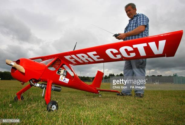 Pilot Steve Howe with Dorset Fire and Rescue Service's new remote controlled plane