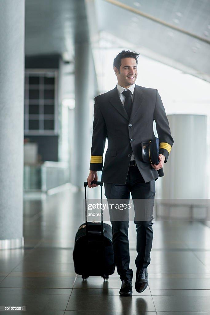 Pilot traveling : Stock Photo