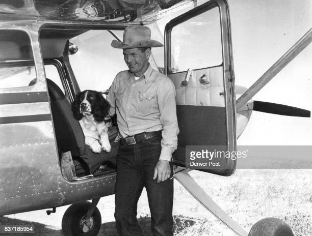 Pilotand 'Copilot'Leo J Cremer Jr son of the fabulous rodeo king of Montana uses an airplane to reach to far corners of the 100000acre spreadlargest...