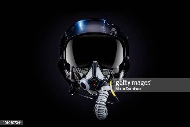 piloten jethelm vollvisier - work helmet stock pictures, royalty-free photos & images