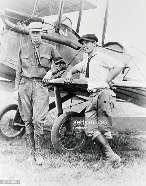 Pilots Charles Lindbergh and Harlan Gurney