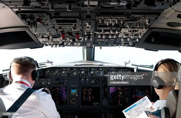 Pilots Control Commercial Airline