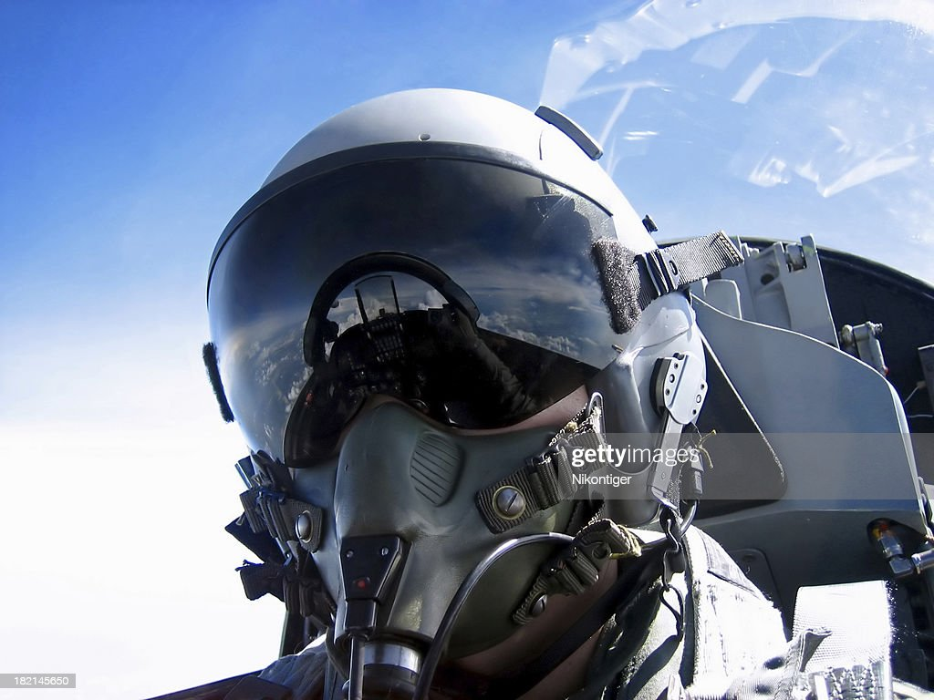 Pilot's Face : Stock Photo