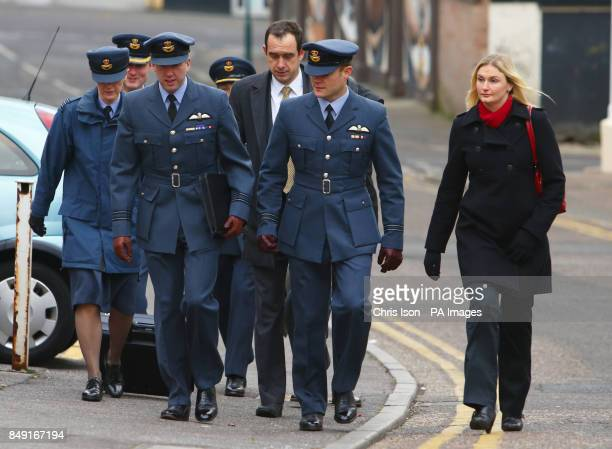 Pilots from the Red Arrows display team, Squadron Leader Ben Murphy and Flight Lieutenant Chris Lynon-Smith , arrive at Bournemouth Coroner's Court...