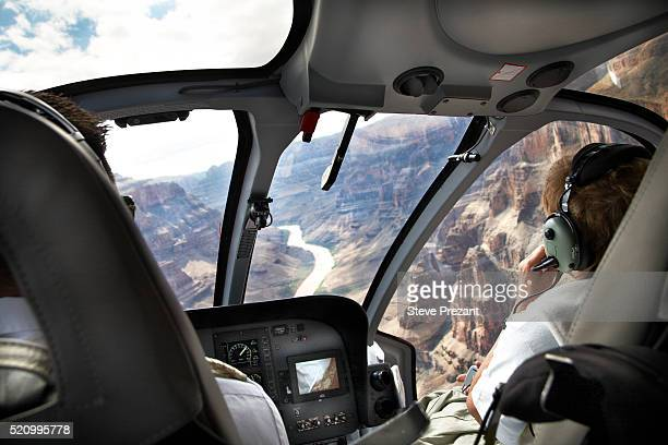 pilots in a helicopter - rescue stock pictures, royalty-free photos & images