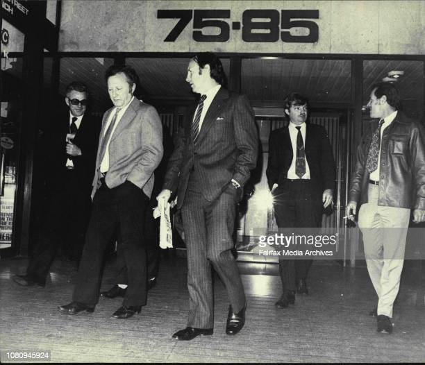 Pilots leave the courtPilots today attended court in Elizabeth St for the Flight Crew Officers Industrial Tribunal August 29 1974