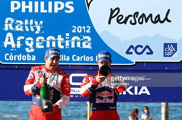 Pilots Sebastien Loeb and Daniel Elena From France during coronation ceremony at the 32 edition of rally Argentina on April 29 2012 in Cordoba...