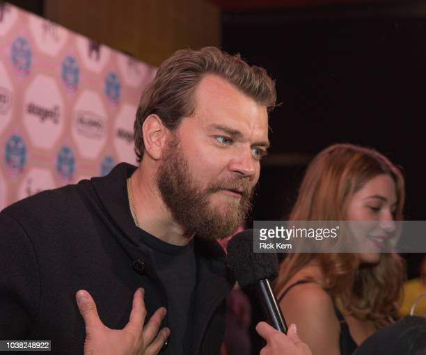 Pilou Asbaek and Mathilde Ollivier attend the World Premiere of 'Overlord' during the 2018 Fantastic Fest Film Festival on September 22 2018 in...