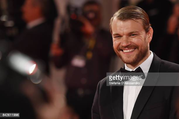 Pilou Asbaek from the movie 'Woodshock' walks the red carpet ahead of the 'Three Billboards Outside Ebbing Missouri' screening during the 74th Venice...