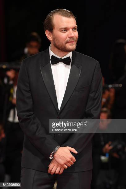 Pilou Asbaek from 'Woodshock' movie walks the red carpet ahead of the 'Three Billboards Outside Ebbing Missouri' screening during the 74th Venice...