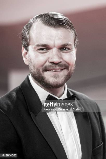 Pilou Asbaek walks the red carpet ahead of the 'TWoodshock' screening during the 74th Venice Film Festival at Sala Giardino on September 4 2017 in...