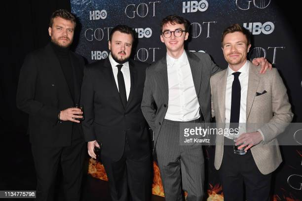 Pilou Asbæk John Bradley Isaac Hempstead Wright and Joe Dempsie attend the Game Of Thrones Season 8 NY Premiere After Party on April 3 2019 in New...