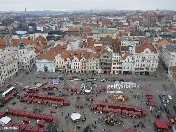 pilsen christmas market - plzeň stock pictures, royalty-free photos & images