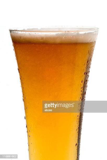 pilsner beer glass top half - pilsner stock photos and pictures
