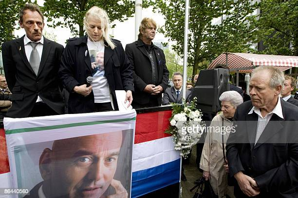 Pim Fortuyn followers hold a one minute silence during the memorial service of the rightwing antiimmigration politician in Rotterdam on May 6 2009...