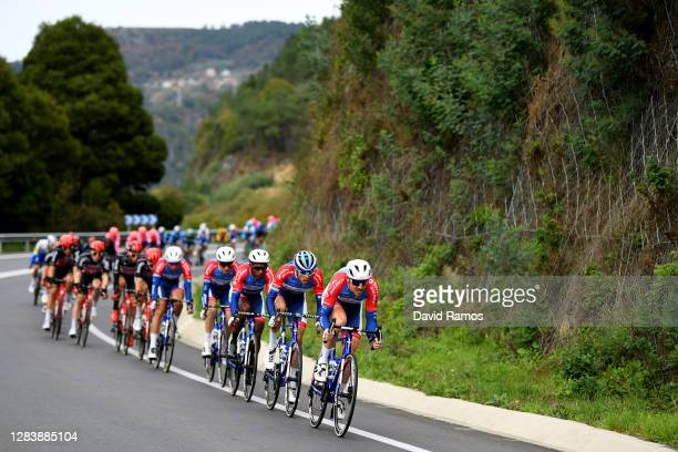 Pim Ligthart of The Netherlands and Team Total Direct Energie / Paul Ourselin of France and Team Total Direct Energie / Lorrenzo Manzin of France and...