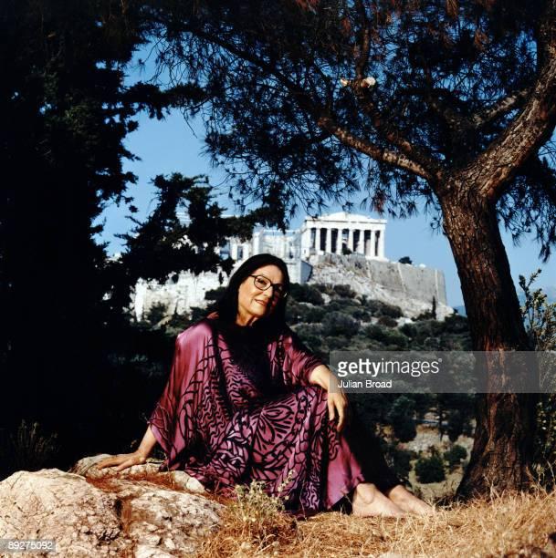 PImage ATHENS, GREECE: Singer Nana Mouskouri poses for a portrait shoot in Athens, Greece.