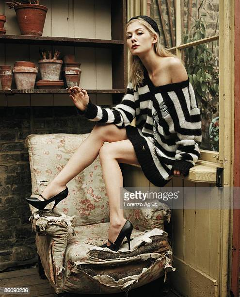 Actor Rosamund Pike poses for a portrait shoot in London