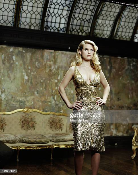 Actress Alice Eve poses for a portrait shoot in London UK for the Sunday Times Magazine