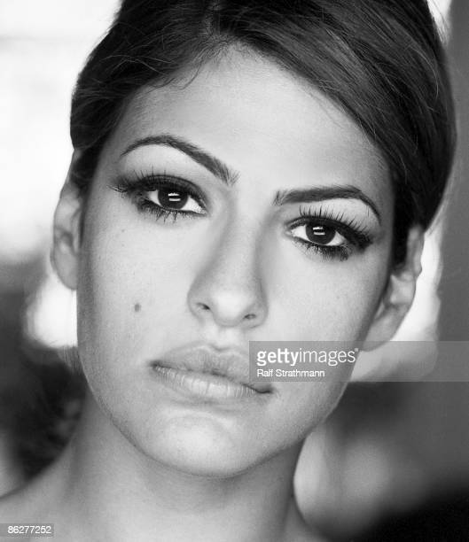Actress Eva Mendes poses at a portrait session for Alternative Press Magazine in 2005