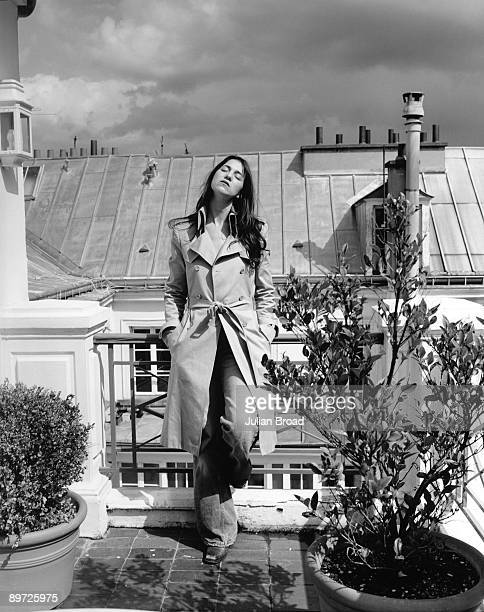 Actor Charlotte Gainsbourg poses for a portrait shoot in Paris France