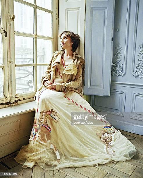 Actress Kristin Scott Thomas poses for a portrait shoot in Paris France