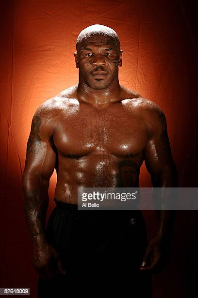 Boxer Mike Tyson poses at Central Boxing Club in Phoenix Arizona