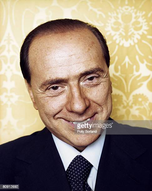 Prime Minister of Italy Silvio Berlusconi poses for a portrait shoot in Rome Italy