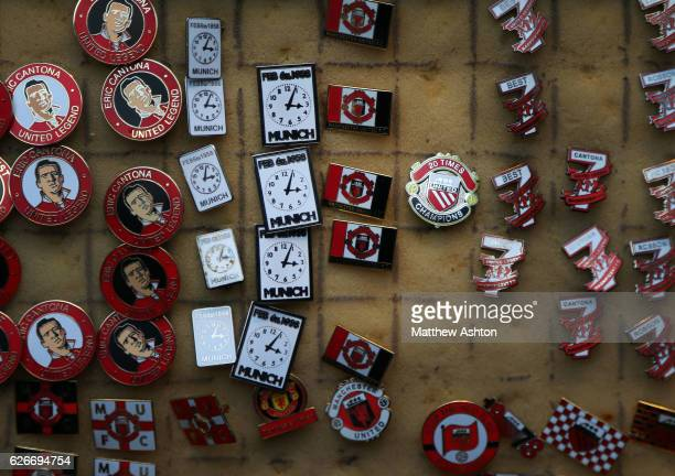 Pin Badges including some remembering the Munich Air Disaster on February 6th 1958