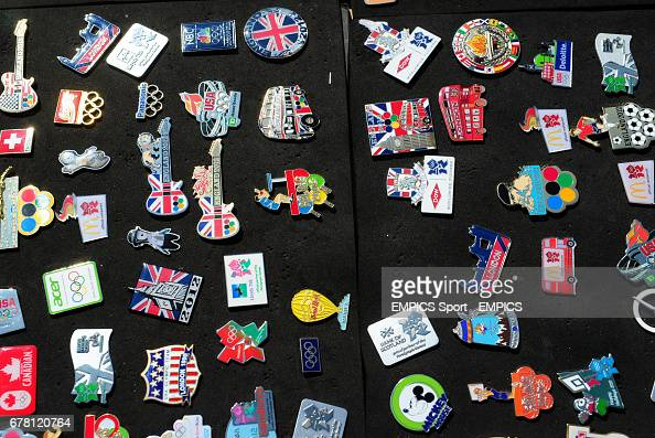 Pin badges on display at the Olympic Park, London News Photo - Getty
