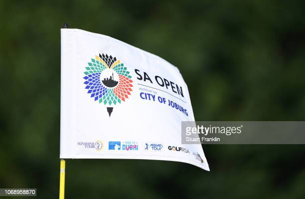 Pin flag is seen during day one of the South African Open at Randpark Golf Club on December 6, 2018 in Johannesburg, South Africa.