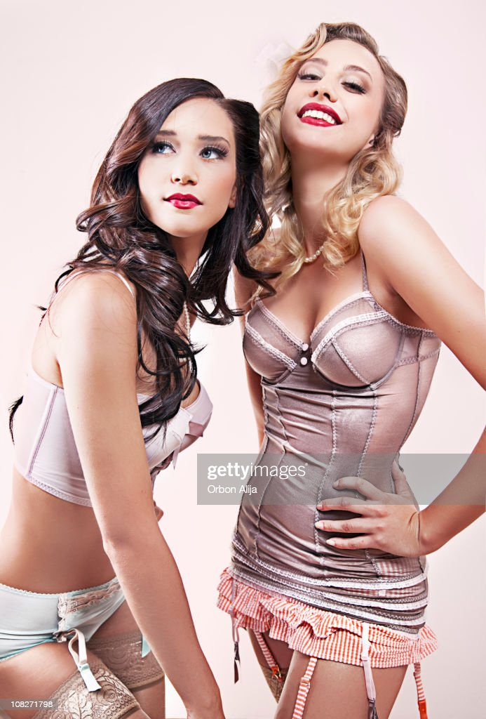 Pin Up girls in pink : Stock Photo