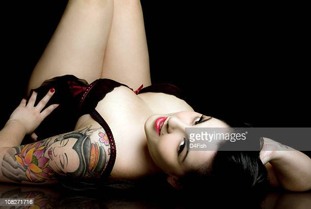 pin up model - pin up girl stock pictures, royalty-free photos & images