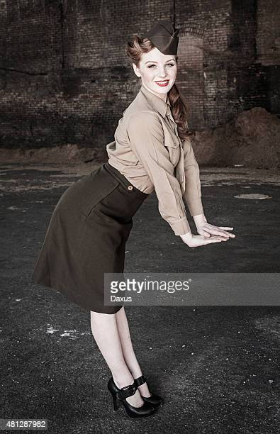 pin up model wwii - 1940s erotica stock photos and pictures