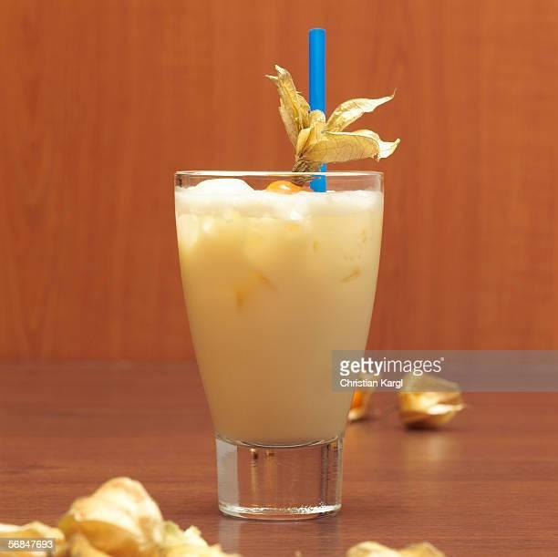 Pina colada cocktail, close-up