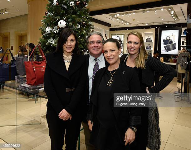 Pina Ferlisi Chris Fior Alfonsina Messina and Jessica DennisCapiraso attend the Henri Bendel Celebration of The Holidays With An Enchanted Secret...