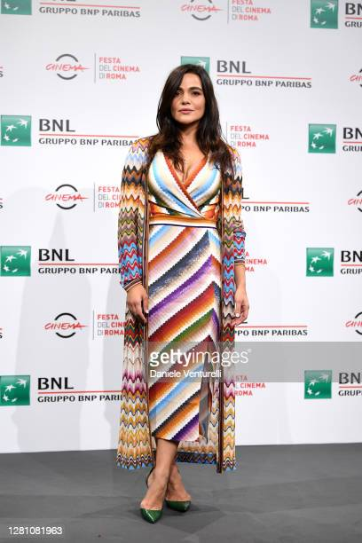 """Pina Turco attends the photocall of the movie """"Fortuna"""" during the 15th Rome Film Festival on October 19, 2020 in Rome, Italy."""