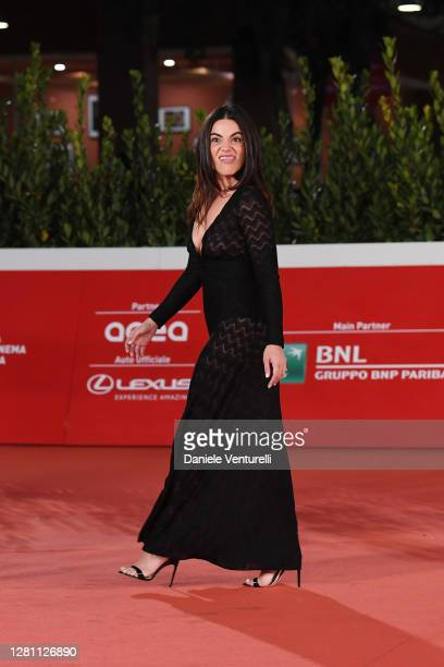 """Pina Turco attends the red carpet of the movie """"Fortuna"""" during the 15th Rome Film Festival on October 19, 2020 in Rome, Italy."""